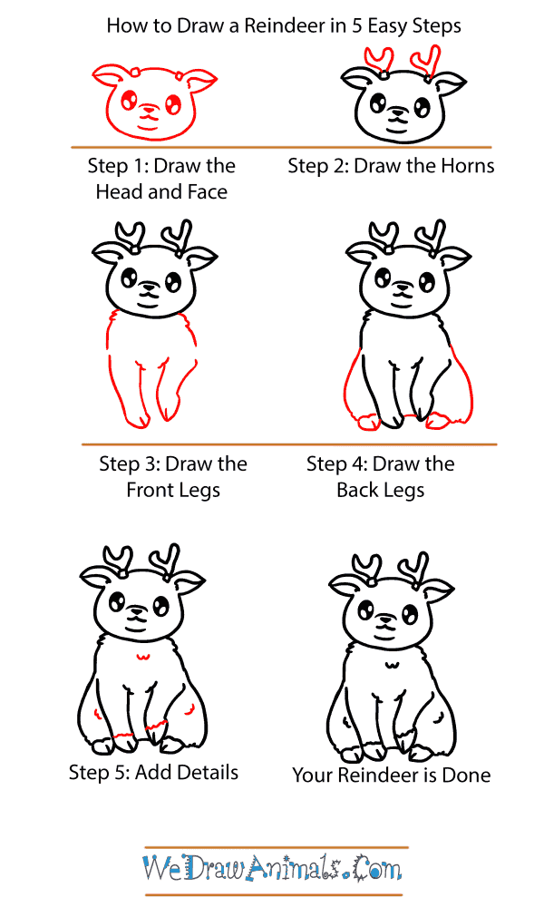 How to Draw a Baby Reindeer - Step-by-Step Tutorial