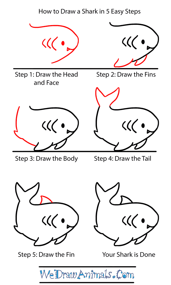How to Draw a Baby Shark - Step-by-Step Tutorial