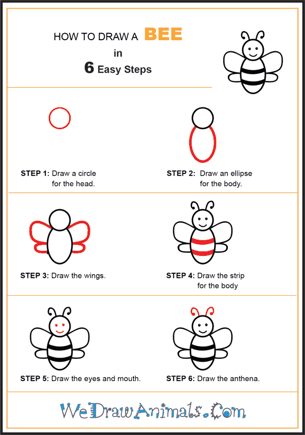How to Draw a Bee for Kids - Step-by-Step Tutorial
