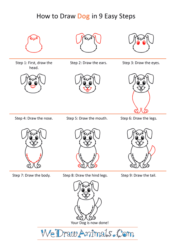 How to Draw a Cartoon Dog - Step-by-Step Tutorial