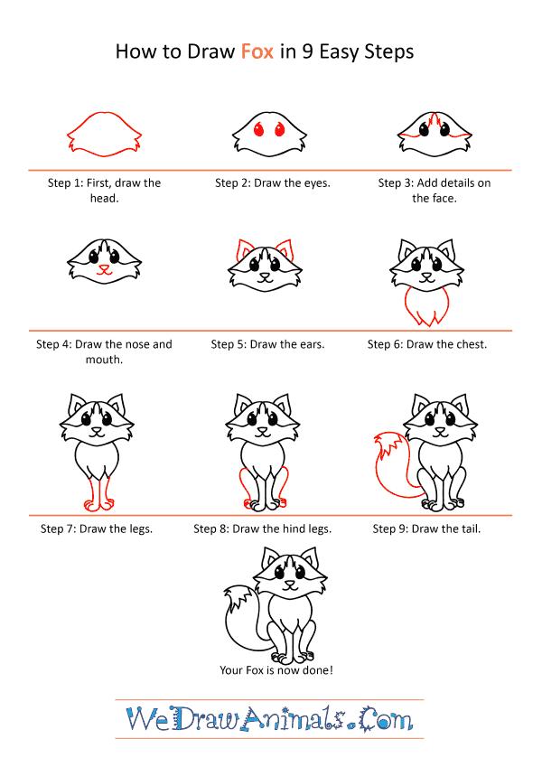How to Draw a Cartoon Fox - Step-by-Step Tutorial