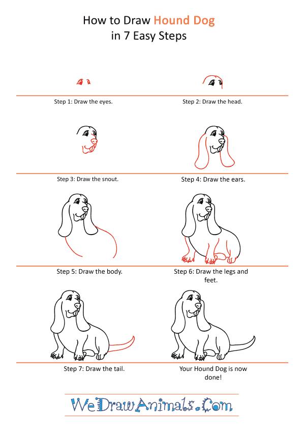 How to Draw a Cartoon Hound Dog - Step-by-Step Tutorial