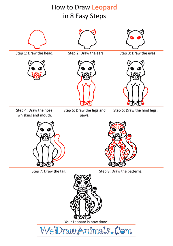 How to Draw a Cartoon Leopard - Step-by-Step Tutorial