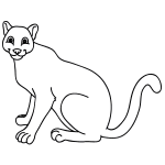 How To Draw A Mountain Lion African lion coloring page from lions category. how to draw a mountain lion