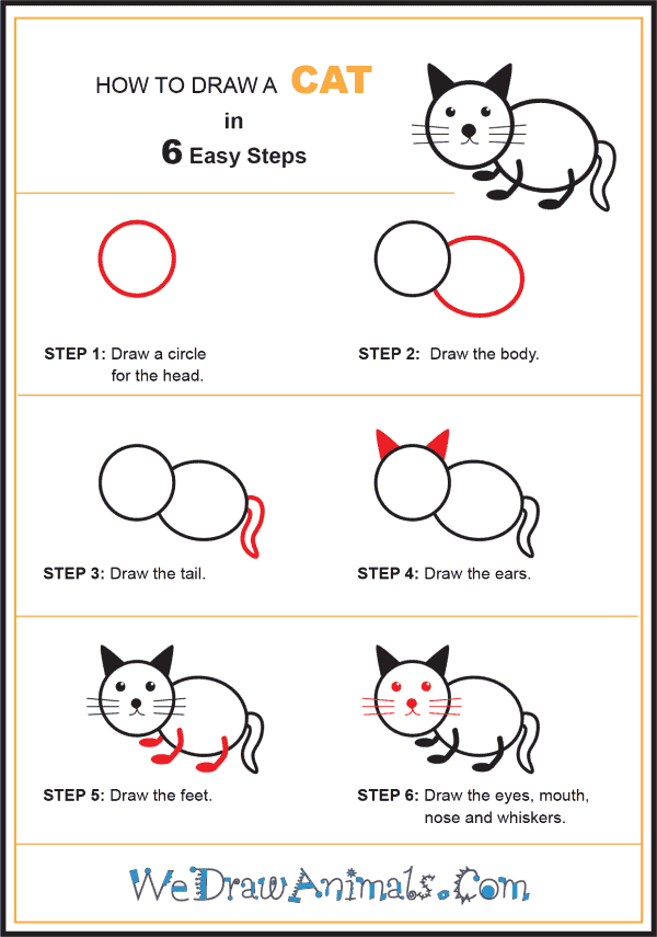 How to Draw a Cat for Kids - Step-by-Step Tutorial