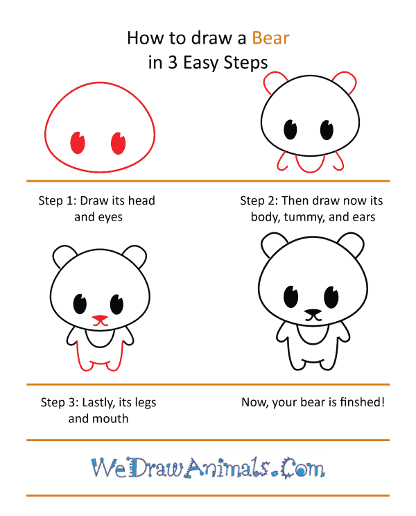How to Draw a Cute Bear - Step-by-Step Tutorial