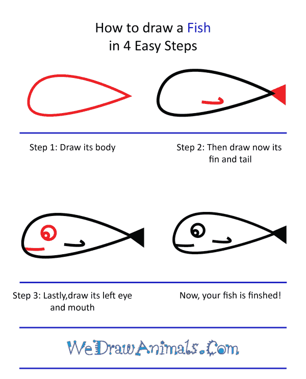 How to Draw a Cute Fish - Step-by-Step Tutorial