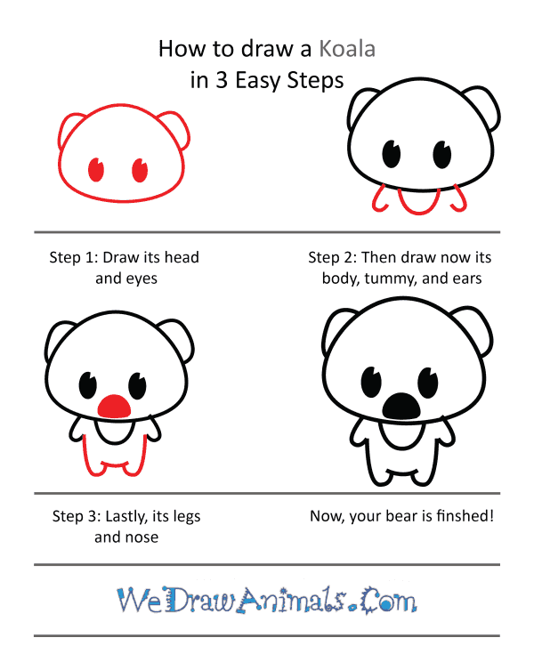 How to Draw a Cute Koala - Step-by-Step Tutorial