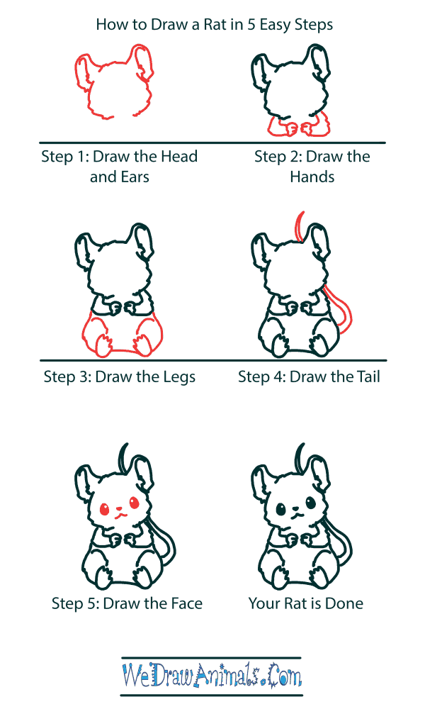 How to Draw a Cute Mouse - Step-by-Step Tutorial