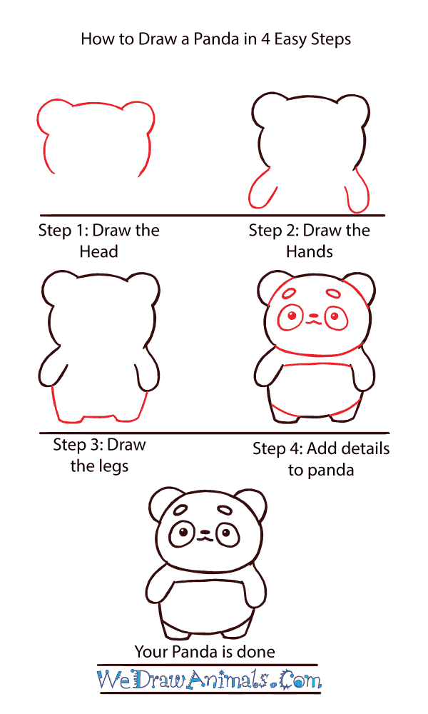 How to Draw a Cute Panda - Step-by-Step Tutorial
