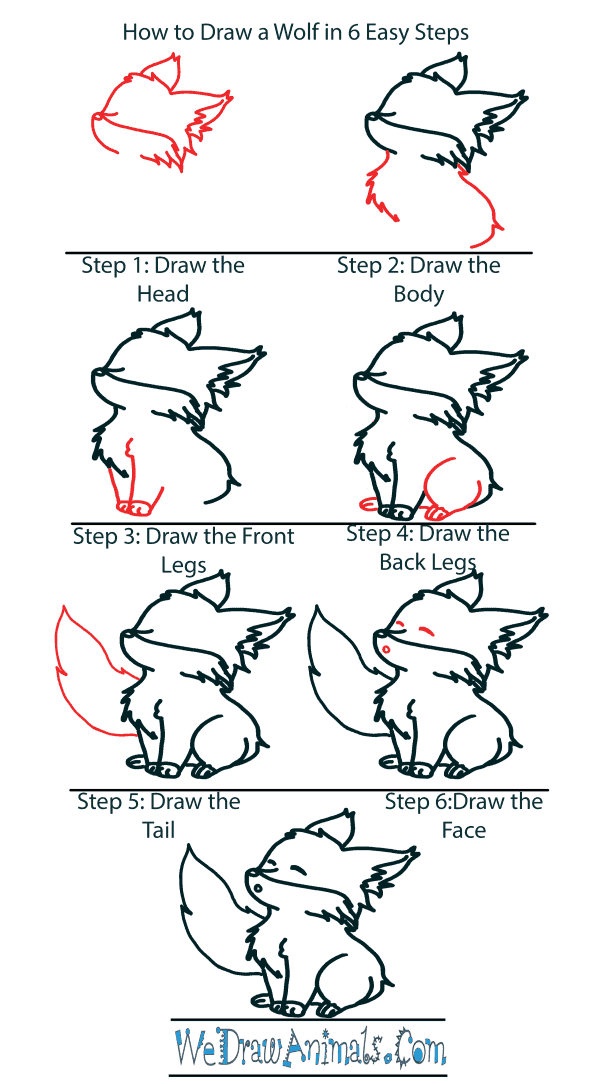 How to Draw a Cute Wolf Howling - Step-by-Step Tutorial