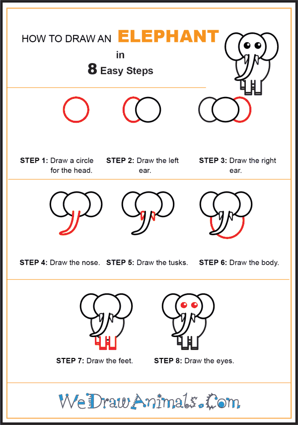 How to Draw an Elephant for Kids - Step-by-Step Tutorial