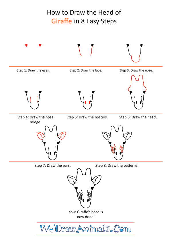 How to Draw a Giraffe Face - Step-by-Step Tutorial