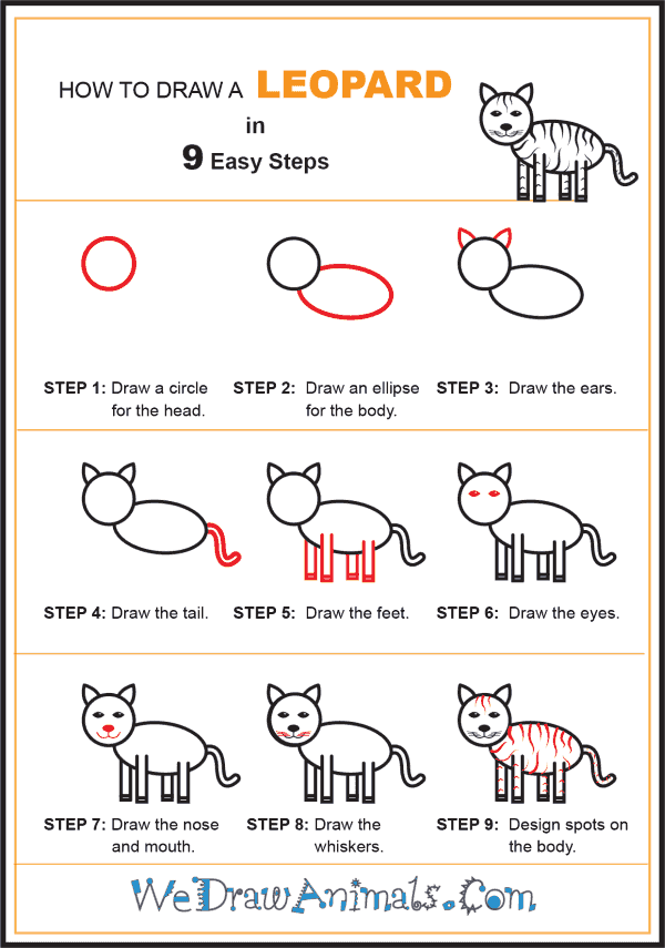 How to Draw a Leopard for Kids - Step-by-Step Tutorial