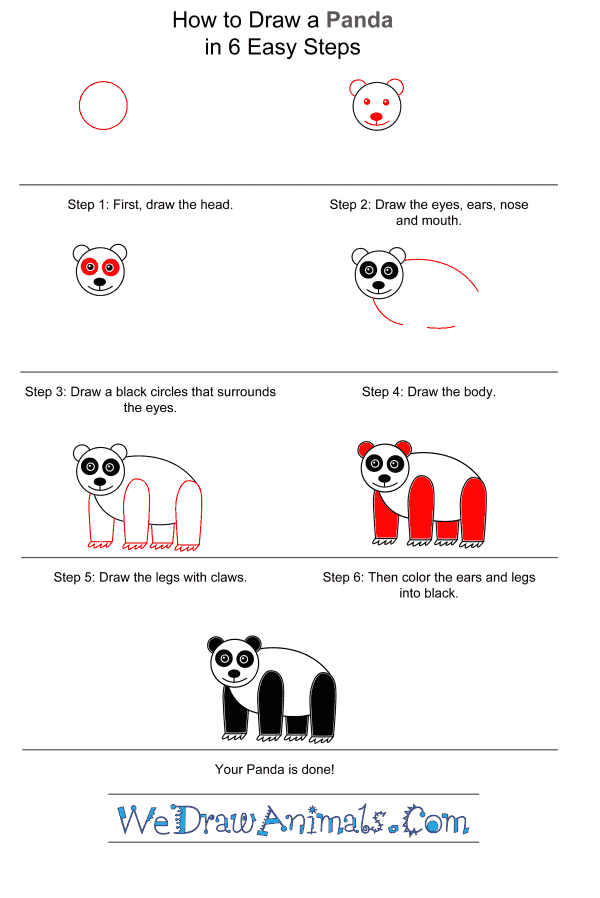 How to Draw a Panda for Kids - Step-by-Step Tutorial
