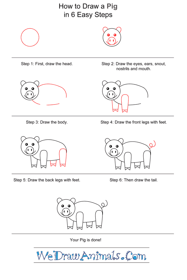 How to Draw a Pig for Kids - Step-by-Step Tutorial