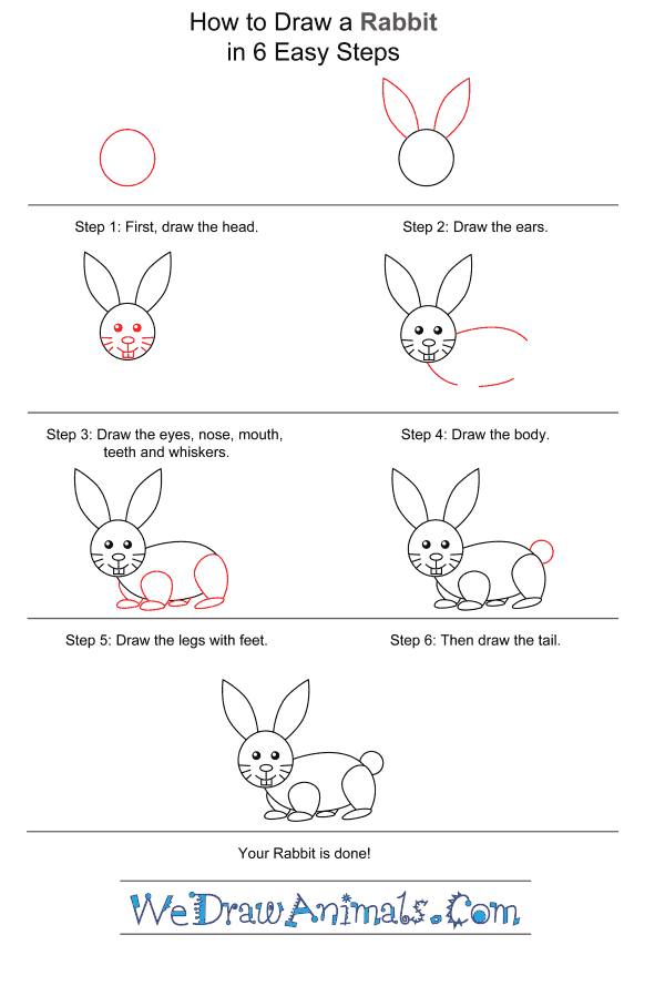 How to Draw a Rabbit for Kids - Step-by-Step Tutorial