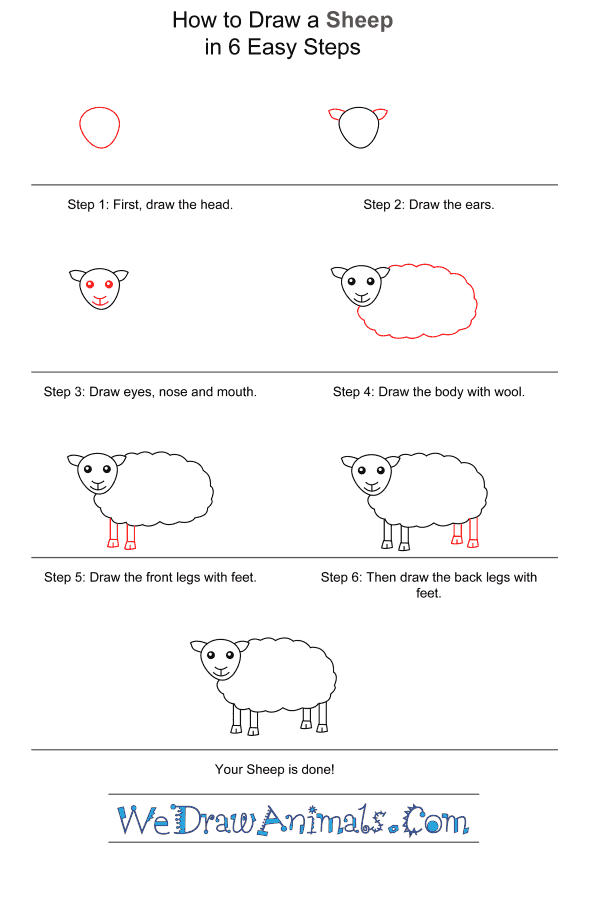 How to Draw a Sheep for Kids - Step-by-Step Tutorial