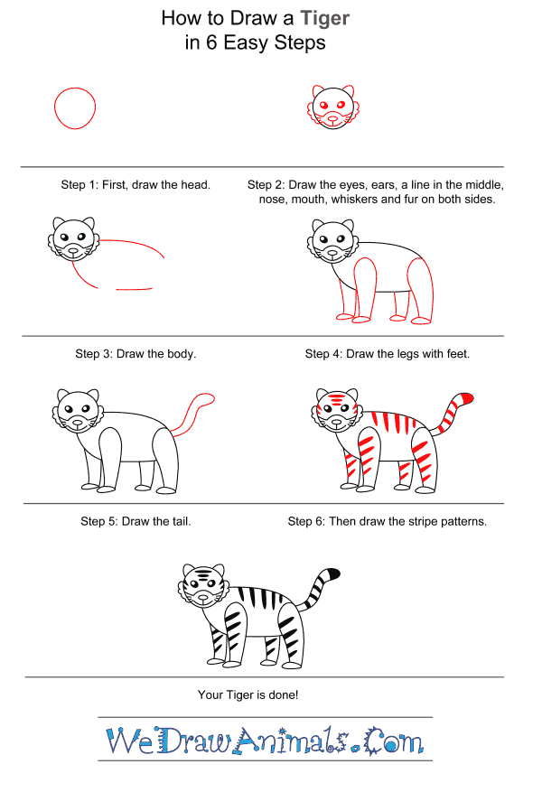 How to Draw a Tiger for Kids - Step-by-Step Tutorial