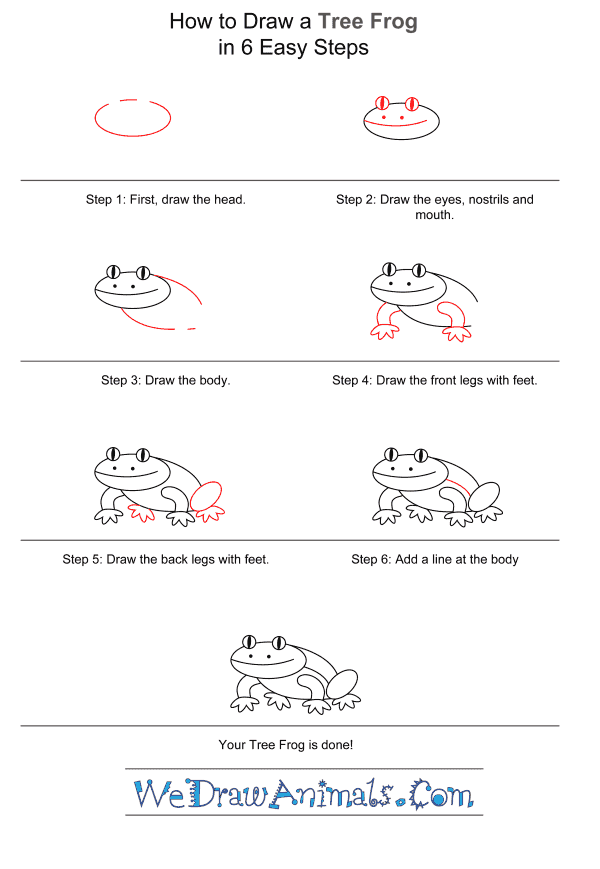How to Draw a Tree Frog for Kids - Step-by-Step Tutorial